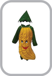 Smily Banana fancy dress for kids,Fruits Costume for School Annual function/Theme Party/Competit