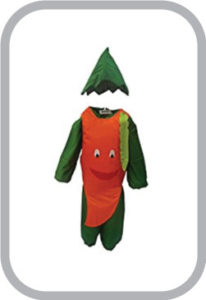 Smily Carrot fancy dress for kids,Fruits Costume for School Annual function/Theme Party/Competit