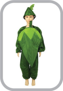 Lady finger fancy dress for kids,Vegetables Costume for School Annual function/Theme Party/Compe