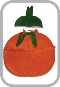 Smily Orange fancy dress for kids,Fruits Costume for School Annual function/Theme Party/Competit