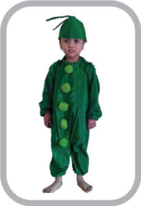 Peas fancy dress for kids,Vegetables Costume for School Annual function/Theme Party/Competition/