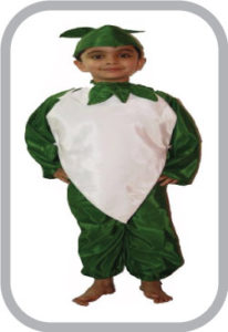 Smily Radish fancy dress for kids,Vegetables Costume for School Annual function/Theme Party/Comp