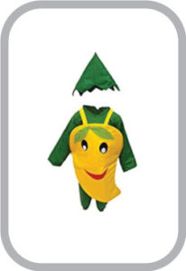 Smily Mango fancy dress for kids,Fruits Costume for Annual function/Theme Party/Competition/Stage Shows Dress