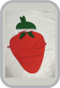 Smily Strawberry fancy dress for kids,Fruits Costume for Annual function/Theme Party/Competition