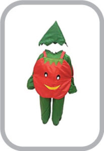 Smily Tomato fancy dress for kids,Vegetables Costume for School Annual function/Theme Party/Comp
