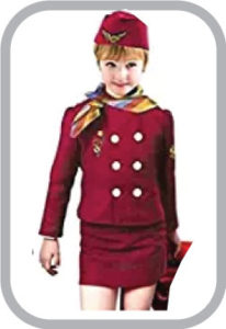 Air Hostress fancy dress for kids,Our helper costume for Annual function/Theme Party/Competition