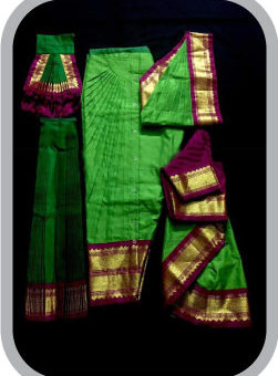 Sunfleet Bharatanatyam| Art Silk Bharatanatyam Dress Sale Rental Shop