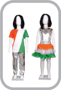 Western Dance Dresses chennai, tricolour dance dresses chennai, independence day program dance costumes, republic day fancy costume ideas,