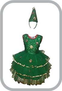 Christmas Tree Girl fancy dress for kids,Christmas Day Costume for Annual function/Theme Party/C