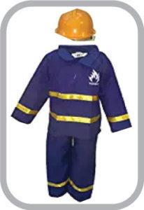 Fireman/RescuerFire Man Fancy Dress For Kids,Our Helper Costume for Annual Function/Theme Party/Competition/Sta