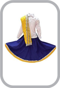 Haryanvi Girl fancy dress for kids,Indian State Traditional Wear Costume for Annual function/The