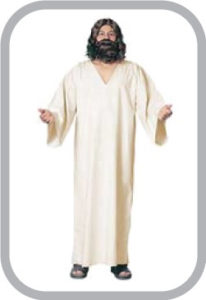 Jesus Costume Costume Includes White robe with red sash attached, brown wig & beard and cross on a string Jesus Costume Adult Christ Biblical Halloween Or Easter Fancy Dress Mens Adult Jesus Christ Nativity God Fancy Dress Costume