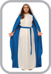 Mother Marry fancy dress for kids,Christmas day Costume for Annual function/Theme Party/Competit