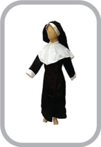 Nun Fancy Dress For Kids,Our Helper Costume For Annual Function/Theme Party/Competition/Stage Sh