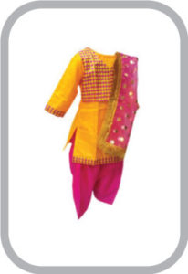 Punjabi Girl fancy dress for kids,Indian State Traditional Wear Costume for Annual function/Them