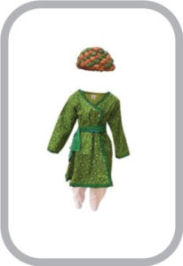Rajasthani Boy Green Color fancy dress for kids,Indian State Traditional Wear for Annual functio