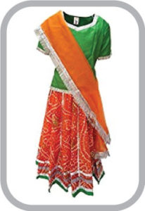 Rajasthani Lehnga fancy dress for kids,Indian State Traditional Wear Costume for Annual function