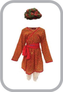 Rajasthani Boy Red Color fancy dress for kids,Indian State Traditional Wear Costume for Annual f
