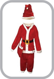 Santa Clause fancy dress for kids,Christmas day Costume for Annual function/Theme Party/Competit