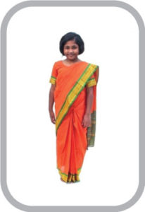 Teacher White Saree fancy dress for kids,Our helper Costume for Annual function/Theme Party/comp