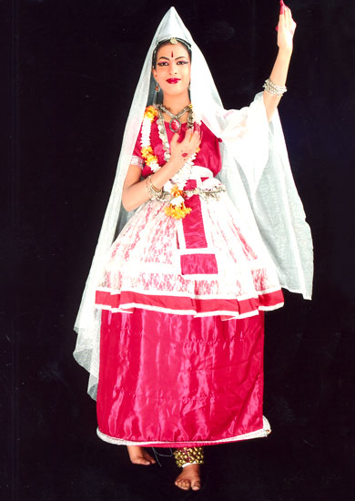 Manipuri Fancy Dance Dress Costume