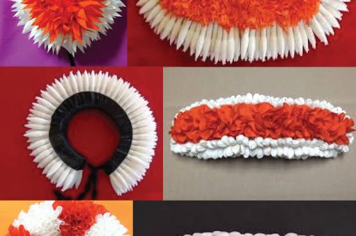 Hair flower, artificial hair flower, gajra veni, bharatanatyam dance flower, classical dance flower, kuchipudi dance hair flower, manipuri dance hair flower,